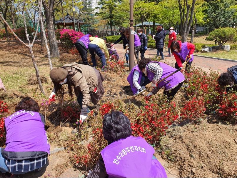 연수2동 주민자치회, 마을 숲 가꾸기 사업 추진의 2번째 이미지
